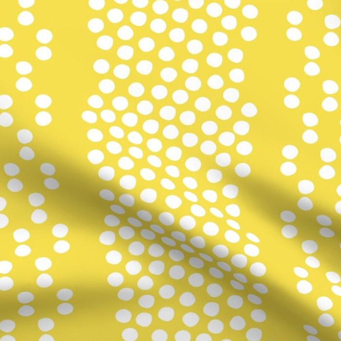 Illuminating Yellow Fabric organic dots