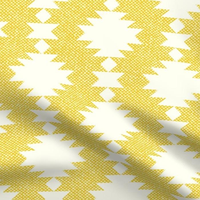Illuminating Yellow Aztec Fabric