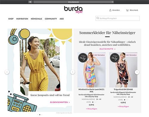 Mainpage Burda Style