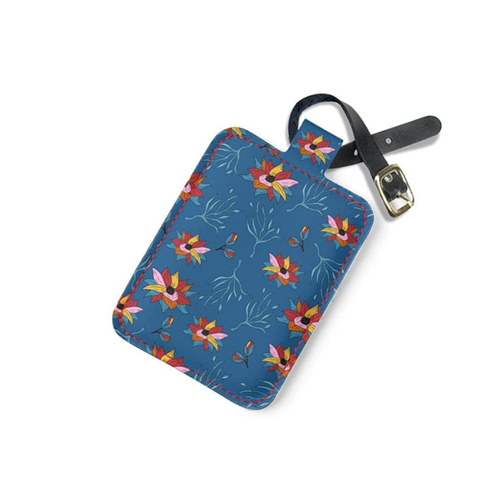 Patterned Suitcase tag