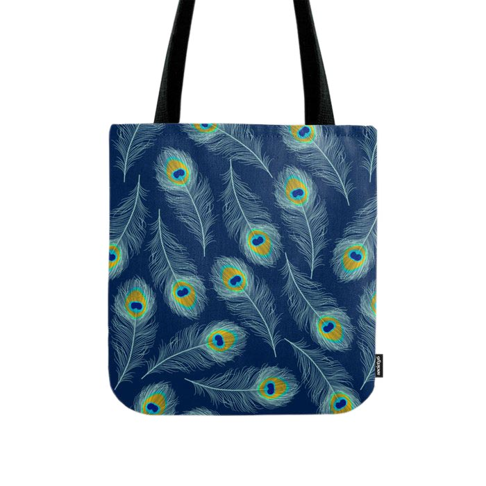 Tote Bag Peacock feathers