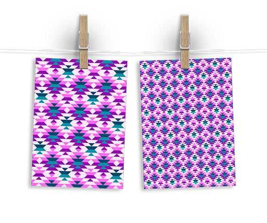 Pink aztec pattern