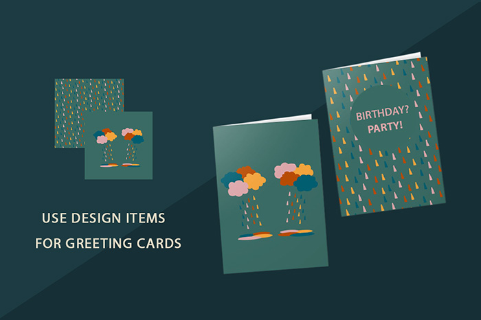 Rain Patterns cards